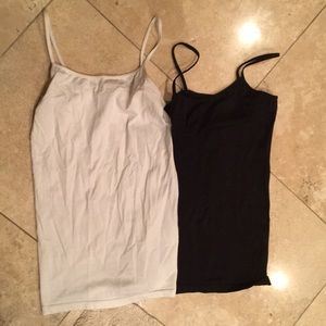 Lot of two maternity camisoles, black and white